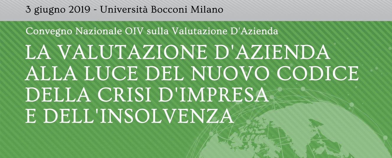 Convegno Nazionale OIV sulla Valutazione D'Azienda, 3.06.2019